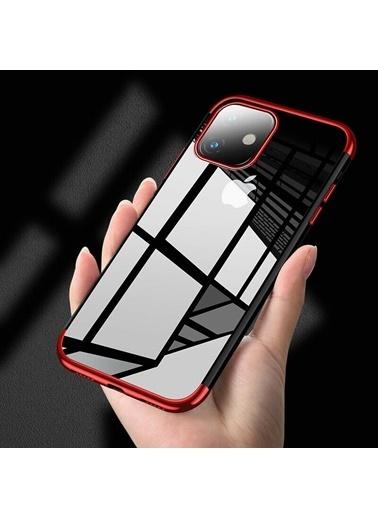 MobilCadde Keephone iPhone 12 Pro Max 6.7 inç Siyah Şeffaf Silikon Kılıf Siyah